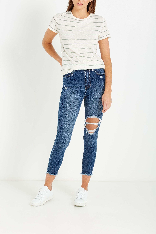 42487d481d High Rise Grazer Skinny Jean | wear | Skinny Jeans, Skinny, Fashion ...