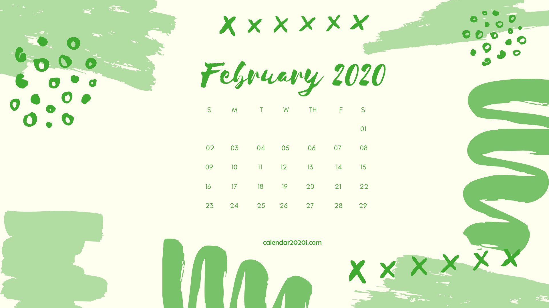 February 2020 Calendar Desktop Wallpaper Calendar