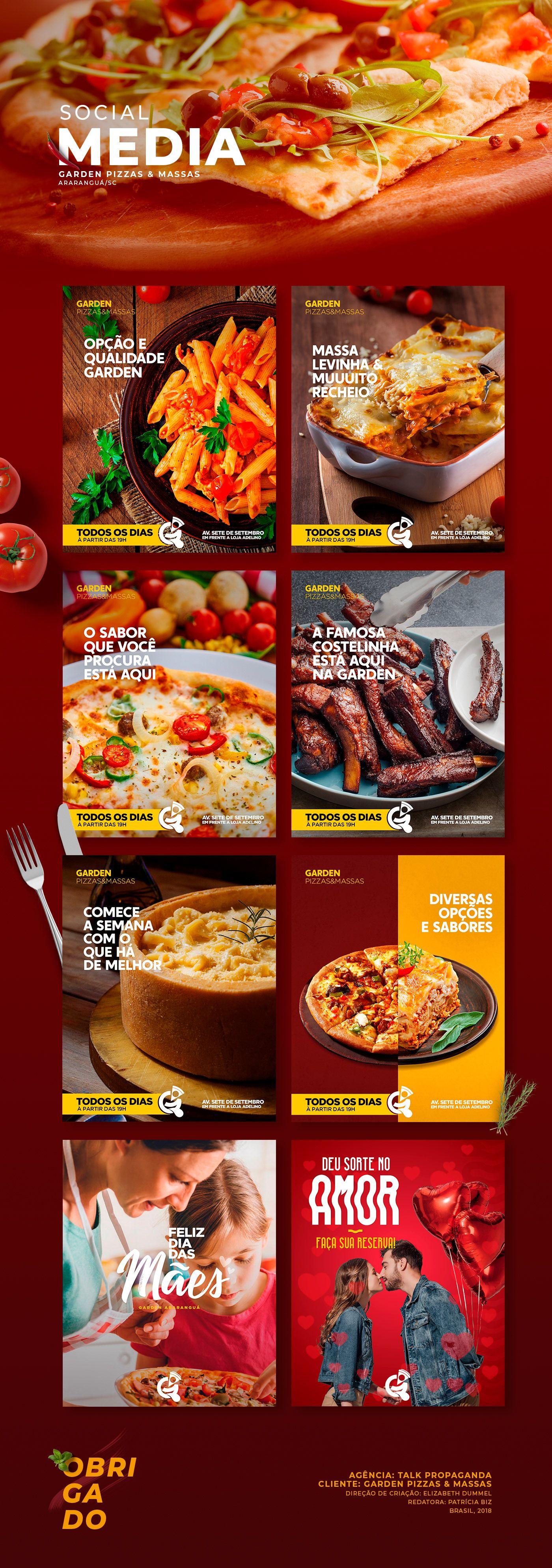 Garden Pizzas E Massas Social Media On Behance Restaurant Social Media Social Media Branding Social Media Design
