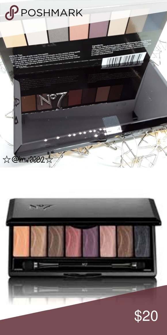 Boots No7 Smoky Stay Perfect Eye Shadow Palette Create an