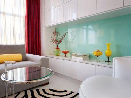 wohnideen für küche glasrückwand glanzvoll farben leuchtend blass, Wohnideen design