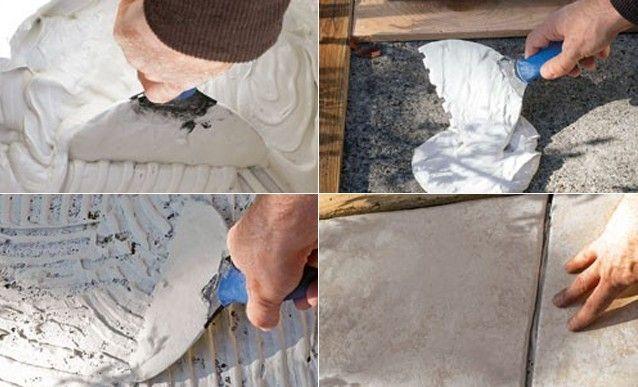 Carrelage ext rieur pose coll e en plein sur dalle de b ton for Pose carrelage terrasse sur dalle beton