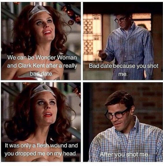 Quotes From Wonder Woman Movie: Wonder Woman And Clark Kent After A Bad Date