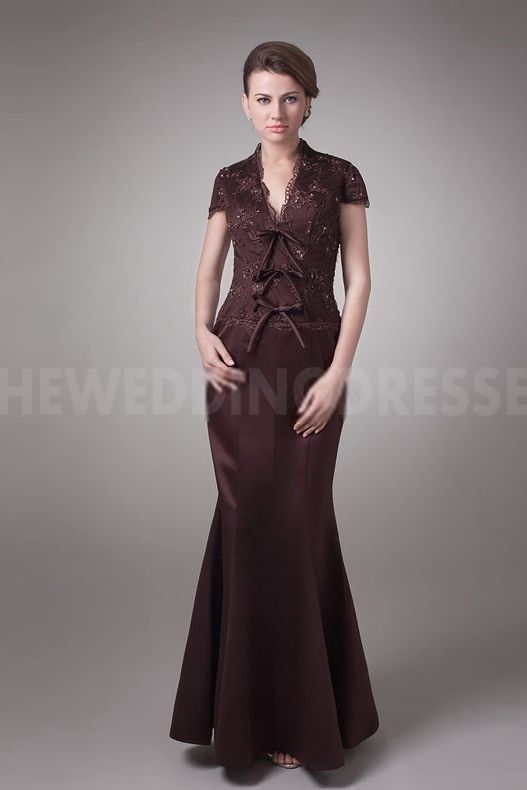 Brown Satin Strapless Mother Of Bride Dresses - Order Link: http://www.theweddingdresses.com/brown-satin-strapless-mother-of-bride-dresses-twdn5011.html - Embellishments: Beading; Length: Floor Length; Fabric: Satin; Waist: Natural - Price: 147.8092USD