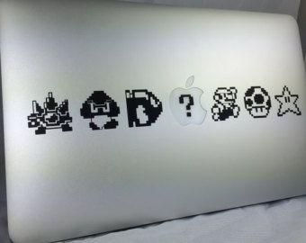 Super Mario Bit Vinyl Decal Laptop Mac Macbook Sticker FREE - Vinyl decals for macbook