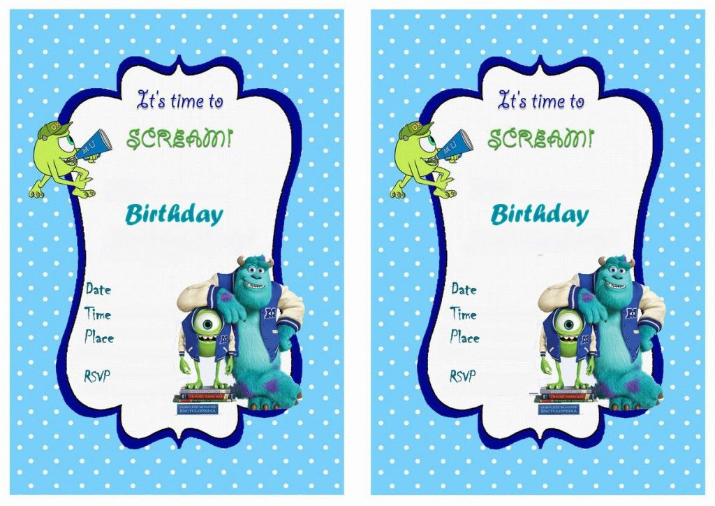 Monsters university birthday invitations party like monsters monsters university birthday invitations filmwisefo