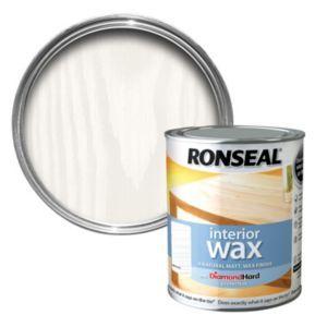 Ronseal Interior Diamond Hard White Ash Matt Wood Wax 0 75l Wood Wax Wood Wax