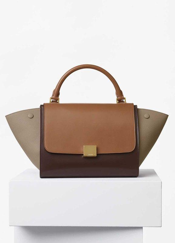 ca331dd67b Small Trapeze Bag in Multicolour Calfskin Satin and Baby Grained Calfskin -  Céline