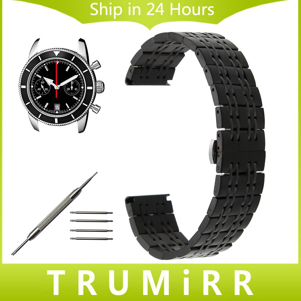 b93835a7628 Click to Buy    18mm 20mm 22mm Stainless Steel Watch Band for Breitling.