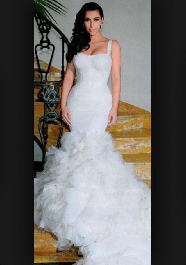 Kim wedding dress | Here Comes The Bride | Pinterest | Wedding dress ...