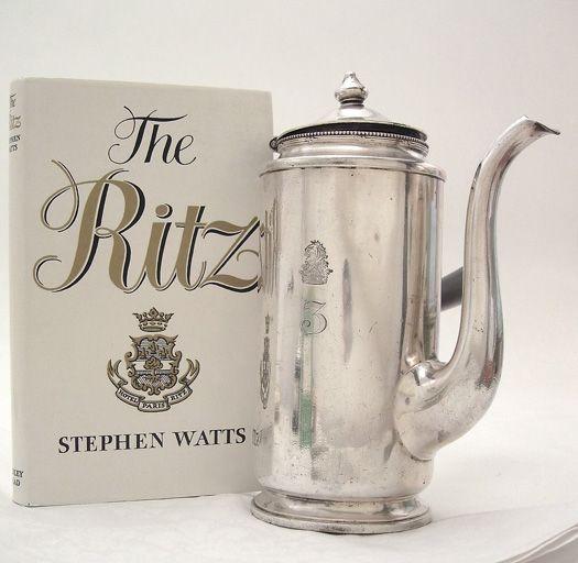 vintage Hotel Ritz, coffee pot