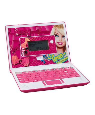 Take a look at this Barbie Laptop Toy by Barbie on #zulily ...