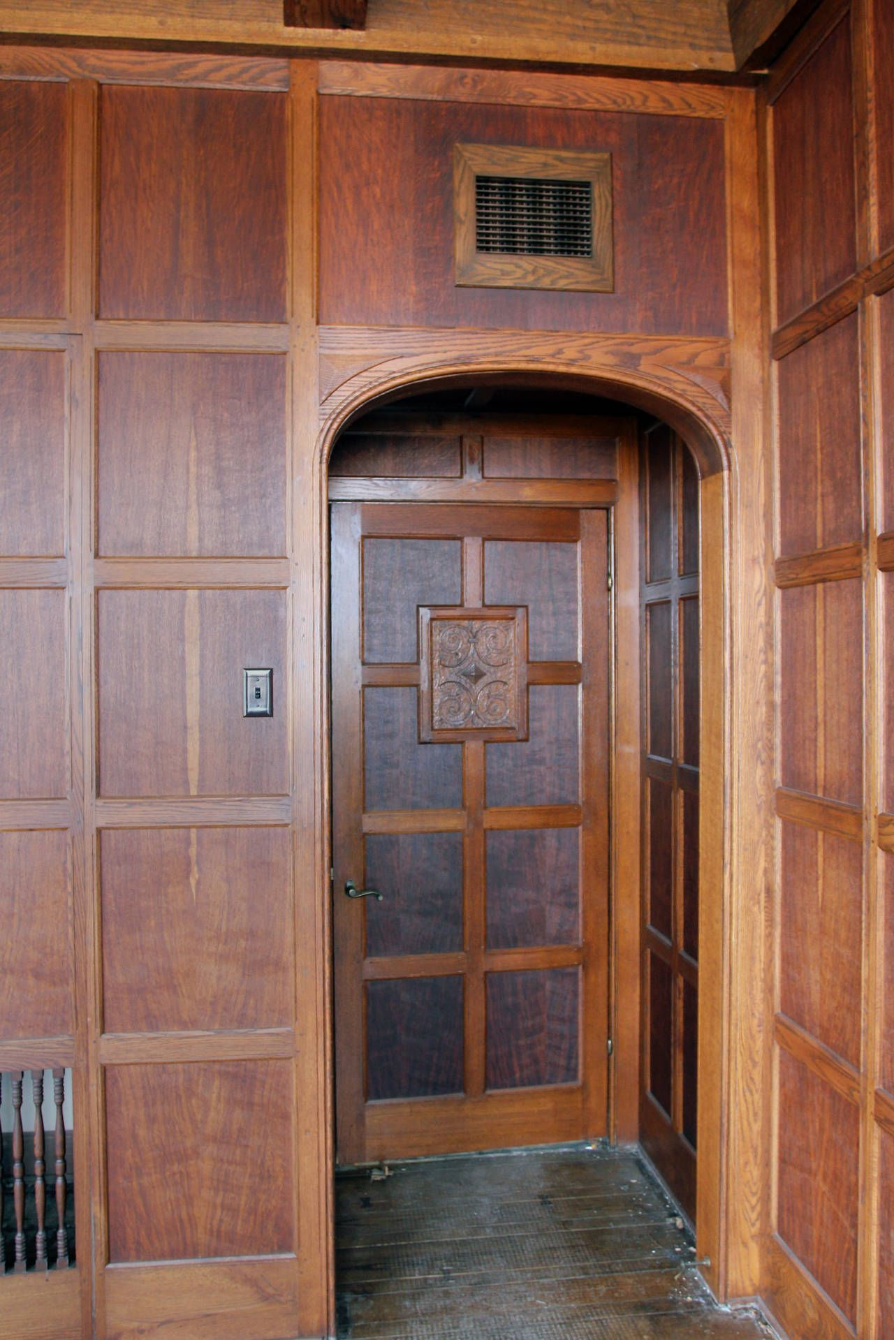 Wood Paneled Den: Tudor Style Solid Oak Paneled Room From Two Rivers