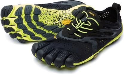398f7f0c98 Vibram Men's FiveFingers V-Run Road-Running Shoes Black/Yellow 47 EU ...