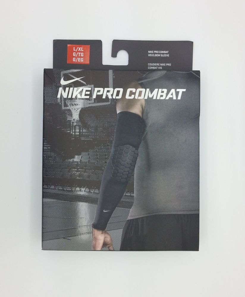 Nike Pro Combat Vis Basketball Orange Elbow Sleeve L Xl New Nike Pro Combat Nike Pros Nike