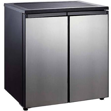 Igloo 5.5-cu. ft. Side-by-Side 2-Door Refrigerator/Freezer, Stainless Steel, 32.00 x 24.00 x 33.00 IN