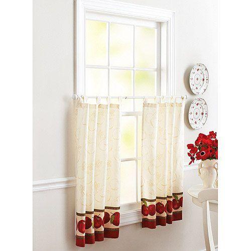astonishing gorgeous walmart kitchen curtains - Kitchen Curtains Walmart