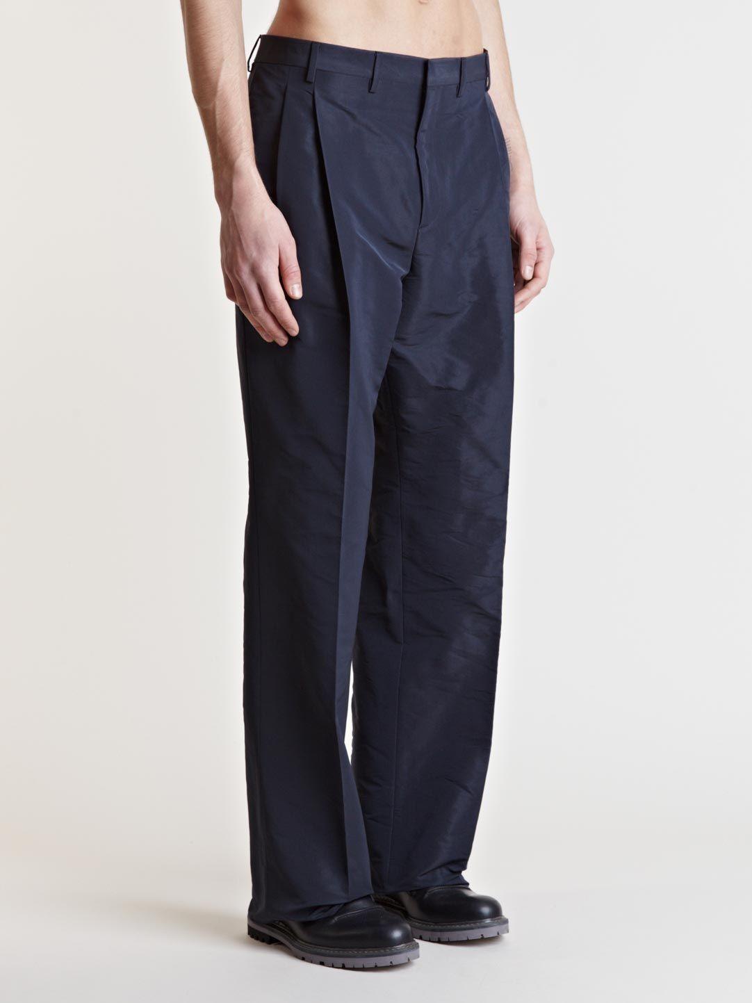 Lanvin - Blue Wide Leg Trousers for Men - Lyst