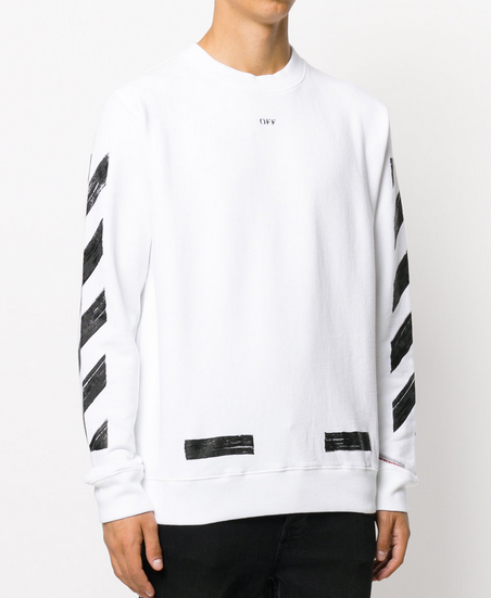 Off White Diagonal Brushed Sweater Carry That Off White Swagger With Their Uniquely Designed Sweater Offwhite Long Sleeve Tshirt Men Sweatshirts Sweaters