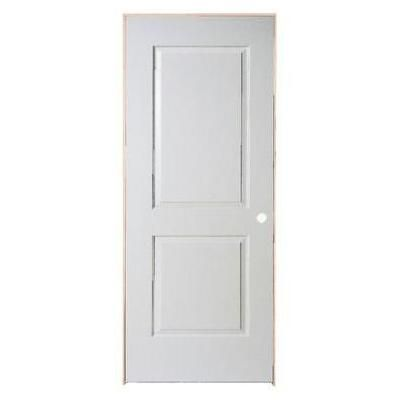 masonite 2 panel smooth pre hung door 30in x 80in lh