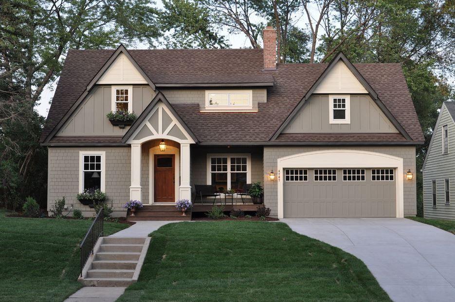 fachadas de casas color gris