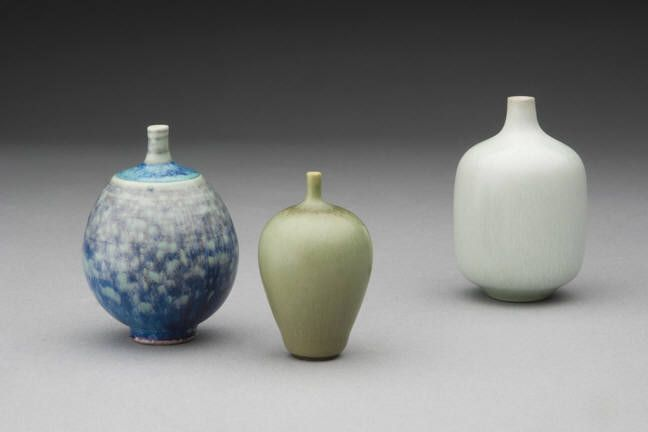 Tiny vases, Hull collection.  Berndt Friberg and Rorstrand Sweden.