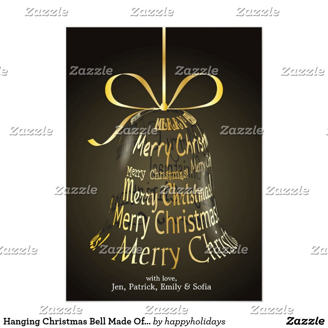 Hanging Christmas Bell Made Of \