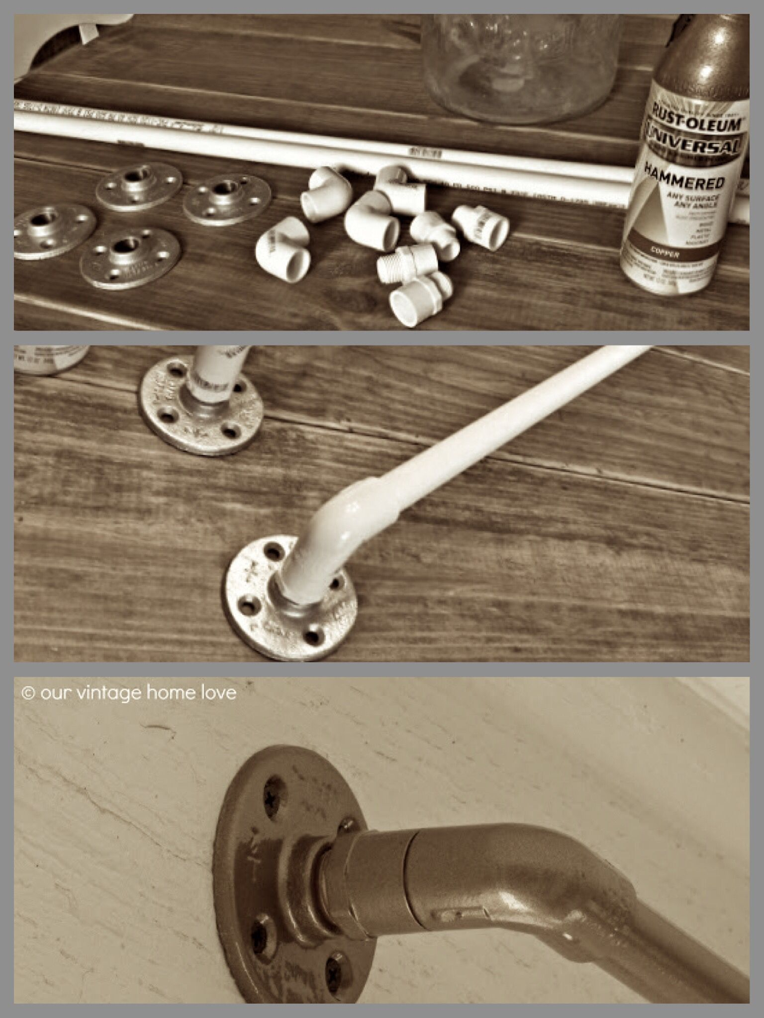 Industrial Curtain Rod Diy From Pvc Conduit Fittings And