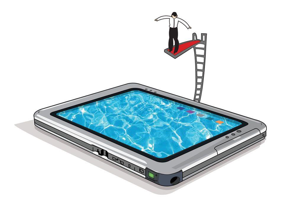 Mergulho na tecnologia.