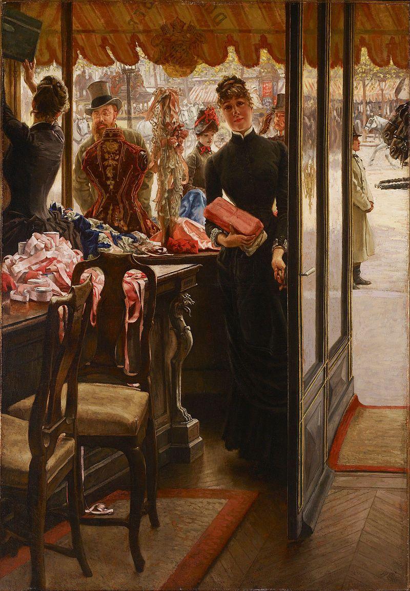 Au Bonheur Des Dames Toulouse : bonheur, dames, toulouse, Bonheur, Dames,, D'Émile, Demoiselle, Magasin, James, Tissot, Gallery, Ontario, Painting,, Dames