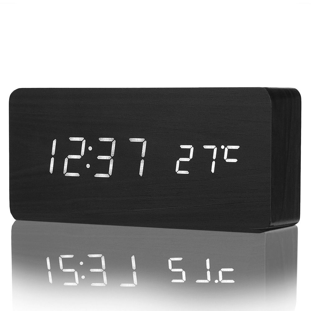 Digital Alarm Clock With Temperature