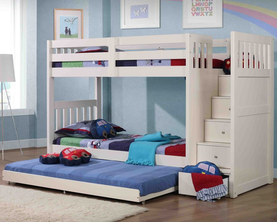 Neutron Bunk Bed With Stair Storage Kinderzimmer Pinterest