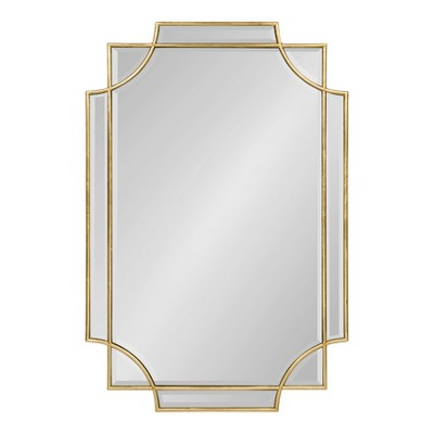 24 X36 Minuette Decorative Rectangle Wall Mirror Gold Kate And