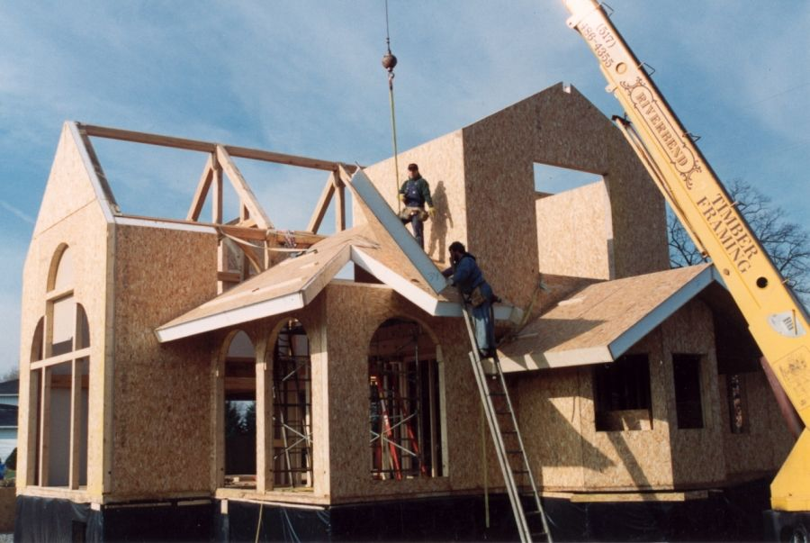 awesome panel house construction #4: Structural Insulated Panels vs. Conventional Framing
