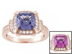 Bella Luce (R) Esotica (Tm) 3.61ctw Alexandrite Simulant & Diamond Simulant Eterno (Tm) Rose Ring