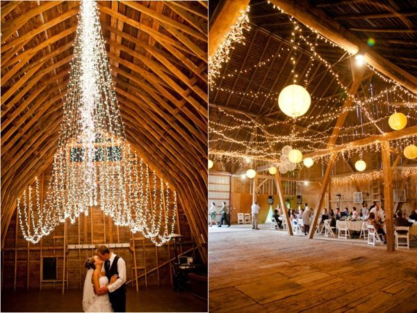 how to decorate your wedding with twinkle lights, twinkle lights as wedding decor, twinkle lights as photo backdrops, barn weddings, rustic wedding venues, decor, florals