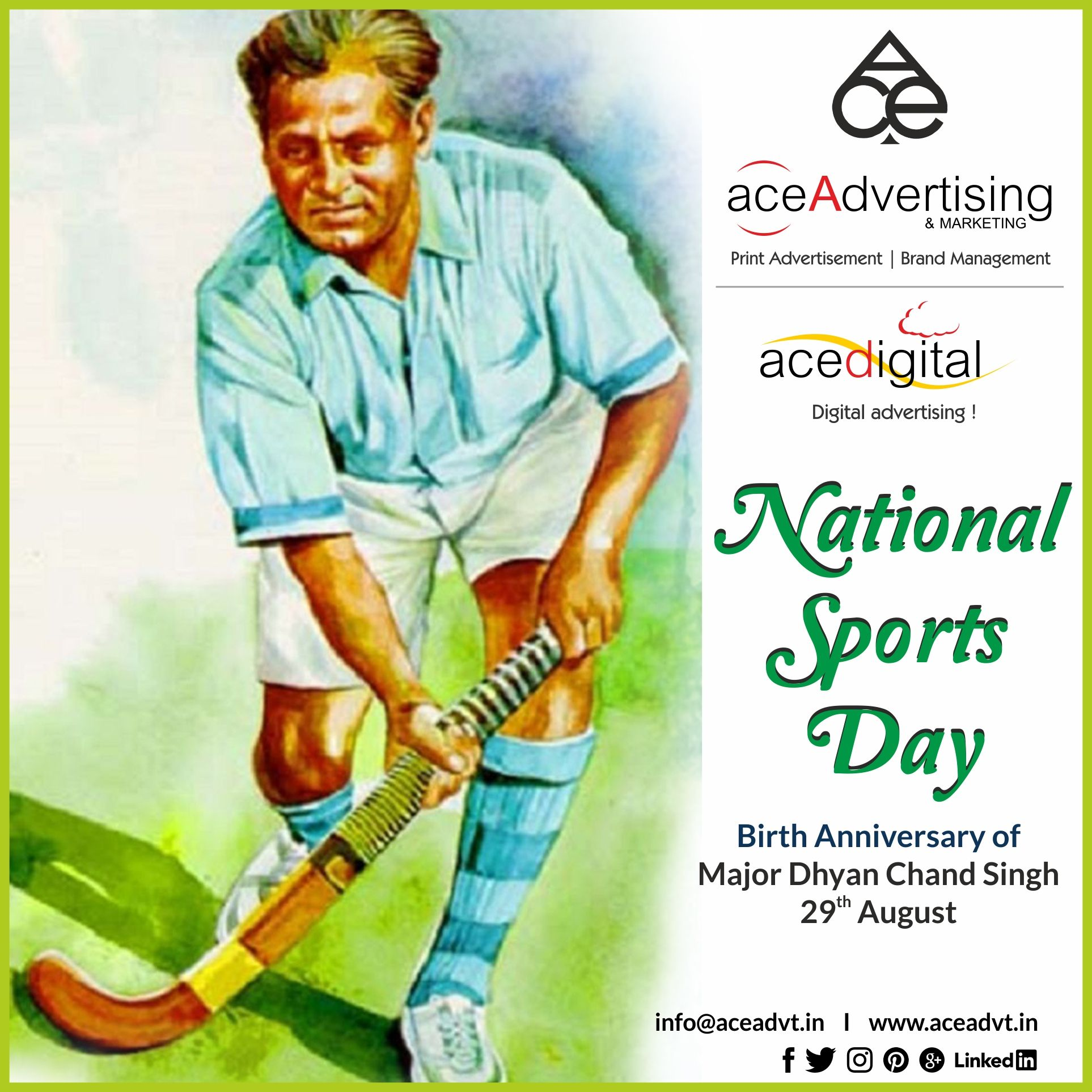 The National Sports Day in India is celebrated on 29