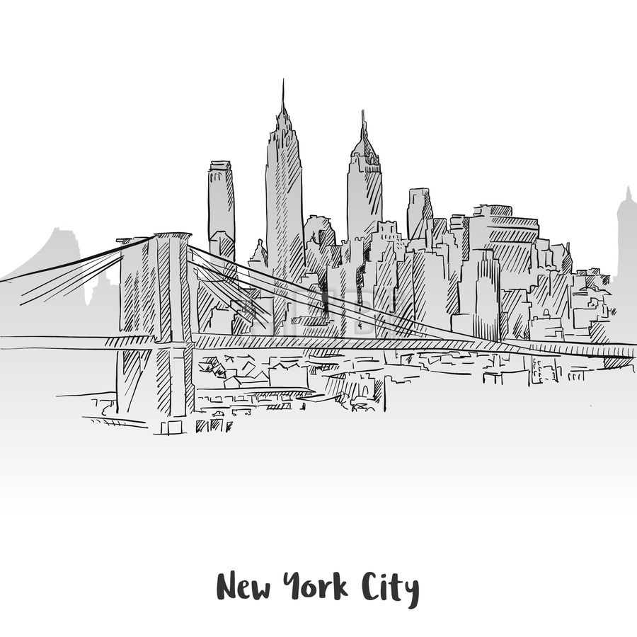Custom Vector Map Service Skyline Drawing City Drawing City Sketch