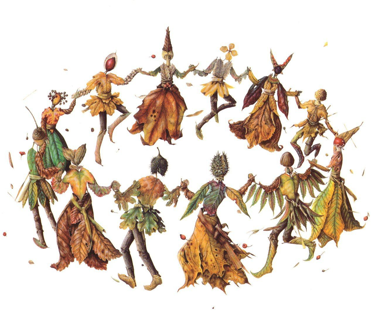 картинки танца с листиками душ