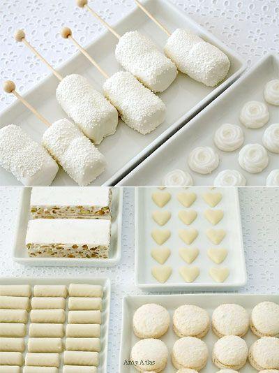 Sugar cookies, dipped marshmallows