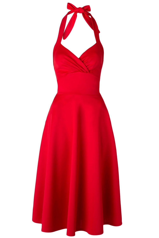 14++ Red halter dress ideas
