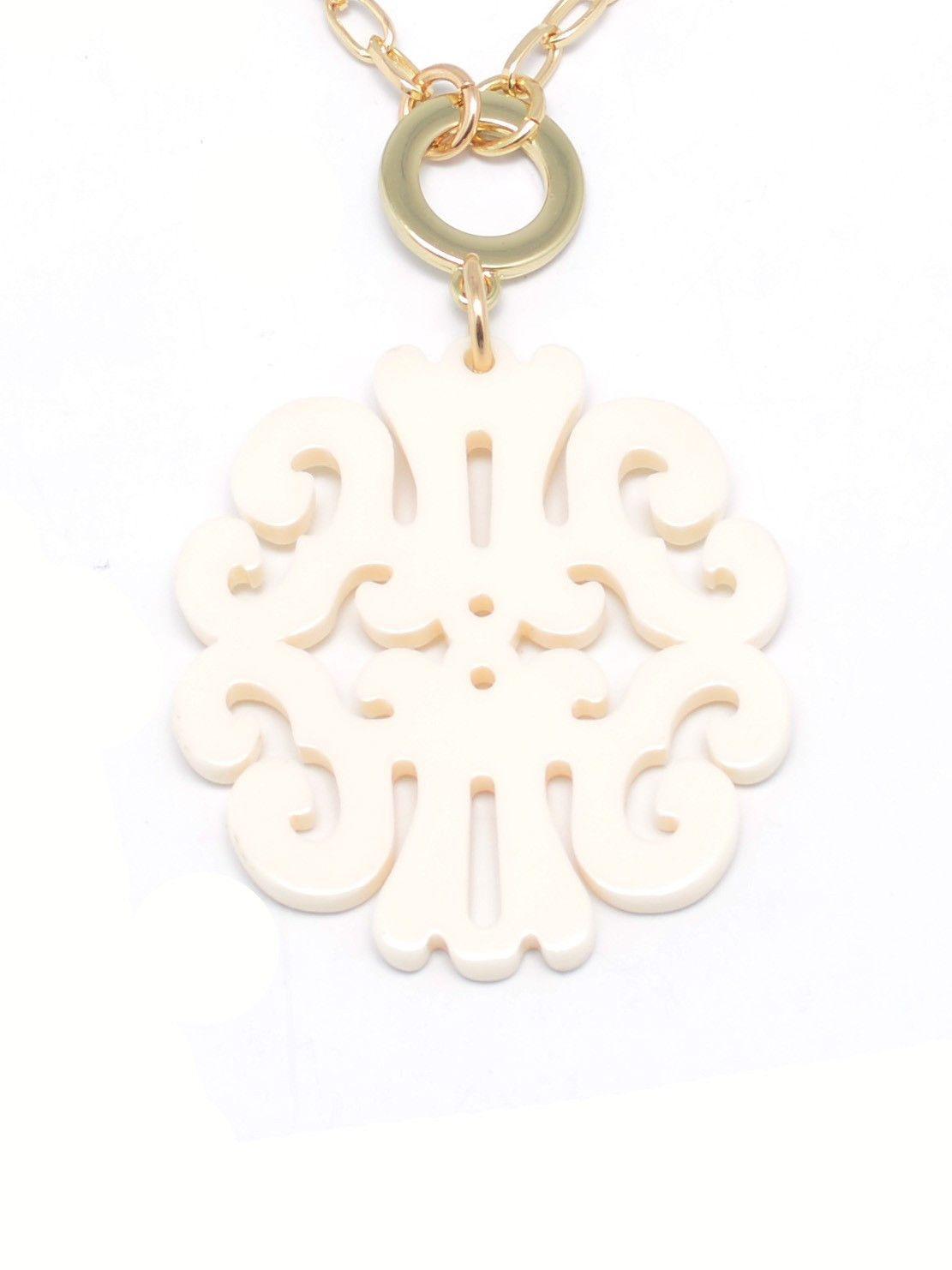 ZENZII Statement Scroll Pendant Necklace