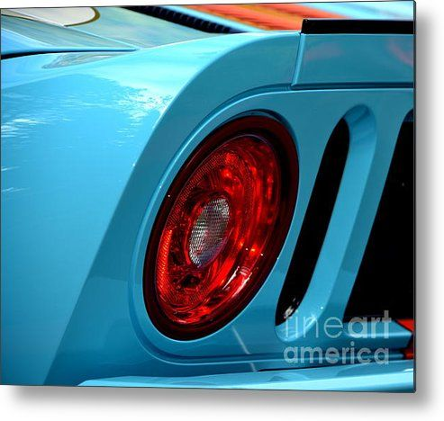 Ford Gt 40 Tail Light Metal Print By Dean Ferreira Ford Gt Tail