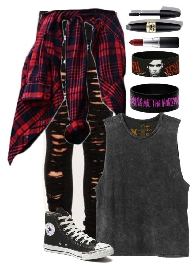 """idk what to call this xD"" by eyes-wide-open-x ❤ liked on Polyvore featuring RVCA, Converse, Max Factor, MAC Cosmetics, women's clothing, women, female, woman, misses and juniors"
