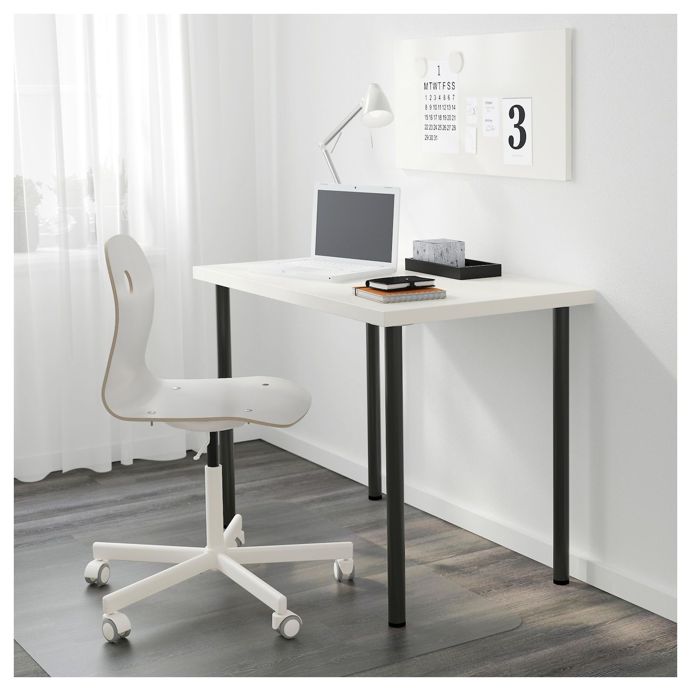 Linnmon Adils Table Blanc Noir 100x60cm Magasinez Sur Fr Ikea Ca Ikea Drawer Unit Linnmon Table Top Ikea
