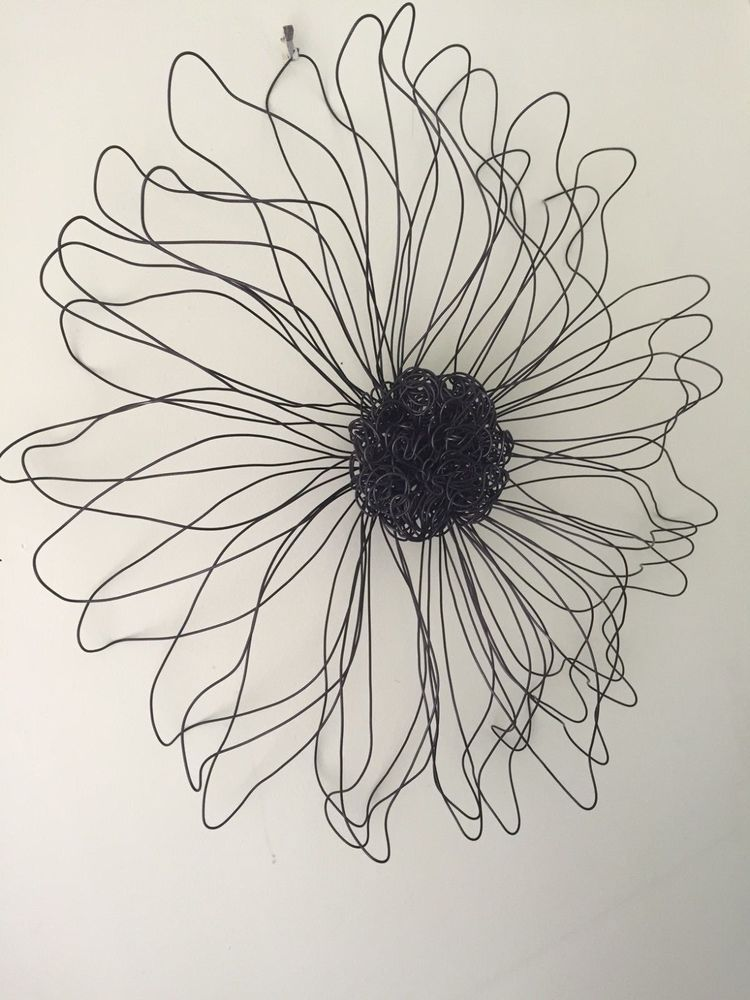 Metal Wire Flower Wall Sculpture Wall Art Decor Daisy Girls Teen room #Embellished #Contemporary & Metal Wire Flower Wall Sculpture Wall Art Decor Daisy Girls Teen ...