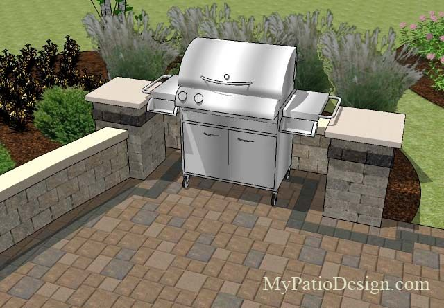 Add Creativity To Your Grill Station By Using Contrasting Block Material.