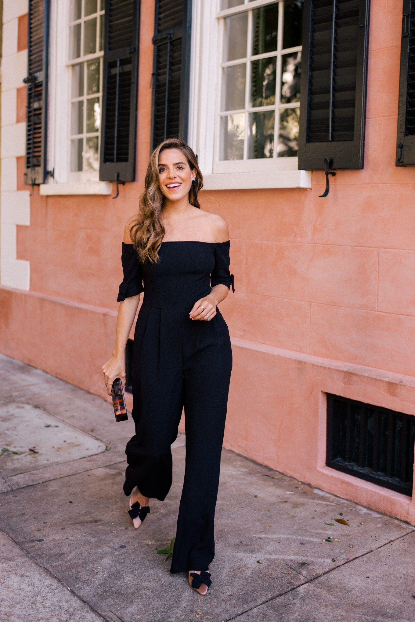 The Black Jumpsuit You Ll Wear All Holiday Season Long Gal Meets Glam Black Jumpsuit Black Jumpsuit Outfit Night Fashion [ 2040 x 1360 Pixel ]