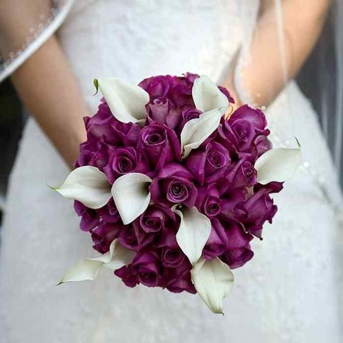 Purple Wedding Flowers Fall