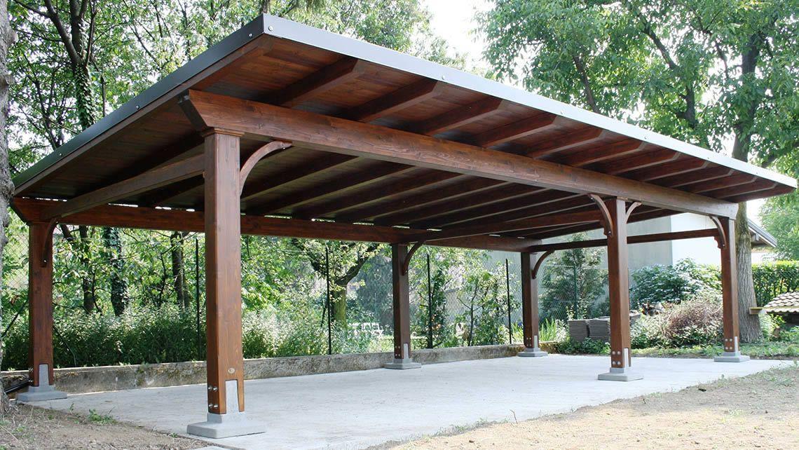 CARPORT Wooden carport by Proverbio Outdoor Design